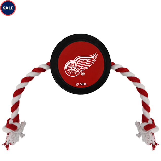 Pets First Detroit Red Wings Hockey Puck Toy for Dogs, Large - Carousel image #1