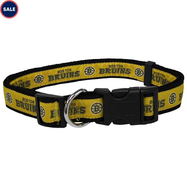 Pets First Boston Bruins Dog Collar, Large - Carousel image #1