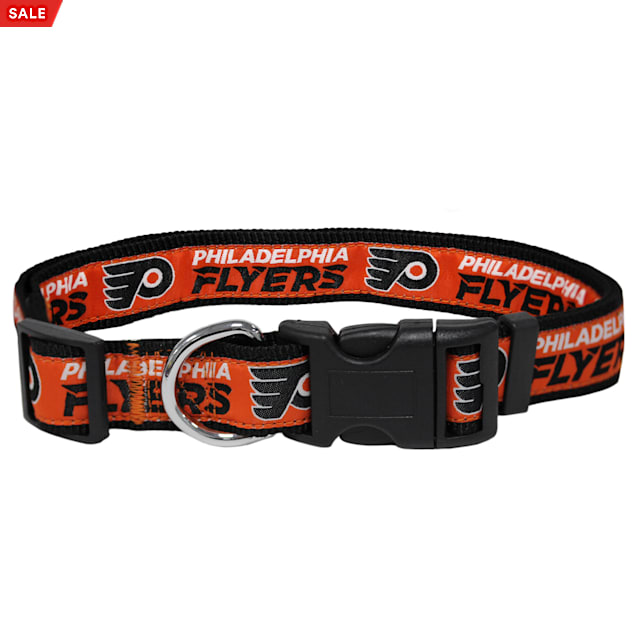 Pets First Philadelphia Flyers Dog Collar, Large - Carousel image #1