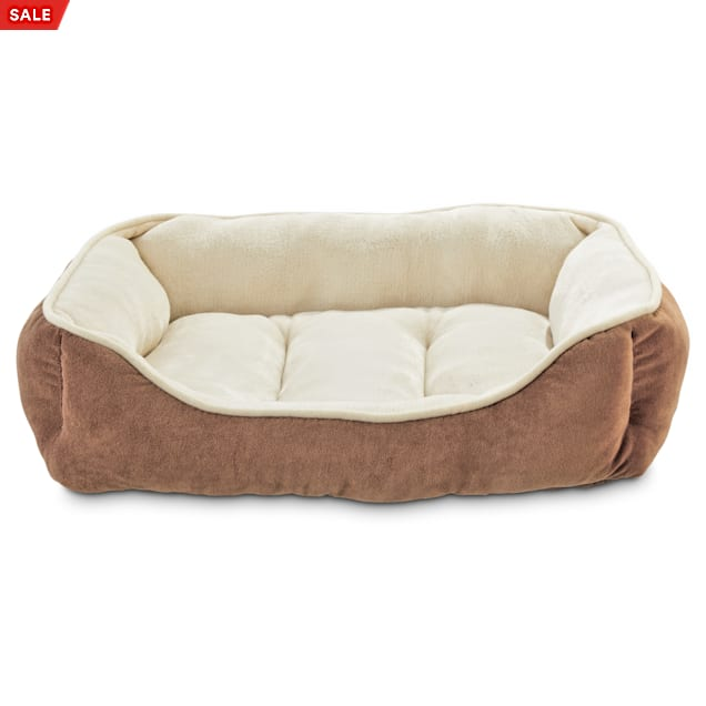 """EveryYay Essentials Snooze Fest Brown Rectangle Dog Bed, 24"""" L X 18"""" W - Carousel image #1"""