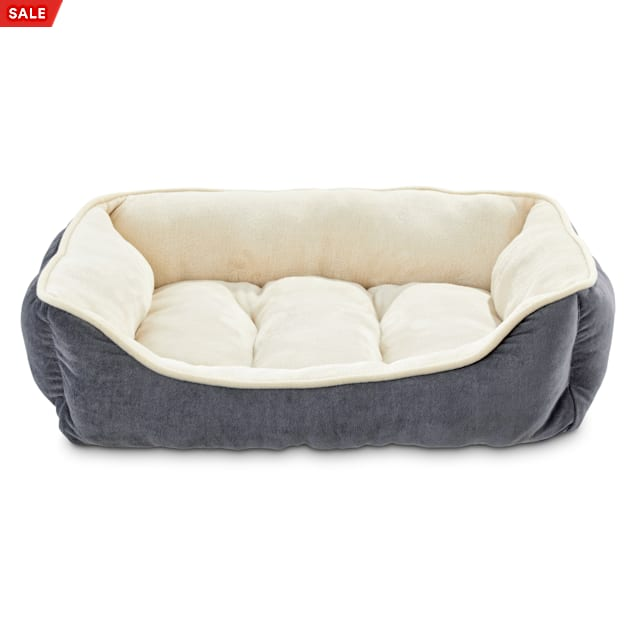"""EveryYay Essentials Snooze Fest Grey Rectangle Dog Bed, 24"""" L X 18"""" W - Carousel image #1"""