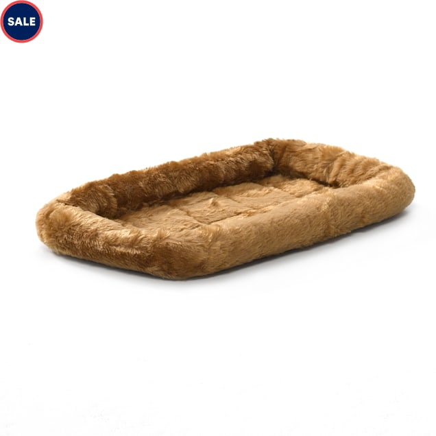 """Midwest Quiet Time Bolster Cinnamon Dog Bed, 18"""" L X 12"""" W - Carousel image #1"""