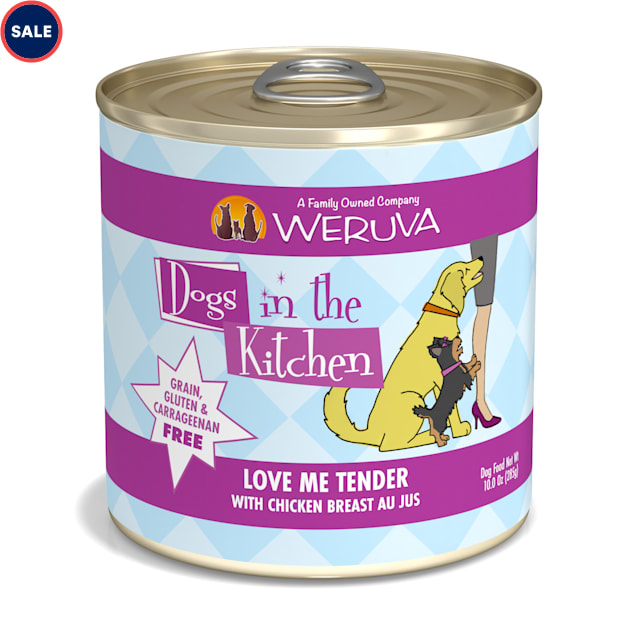 Dogs in the Kitchen Love Me Tender with Chicken Breast Au Jus Wet Dog Food, 10oz., Case of 12 - Carousel image #1
