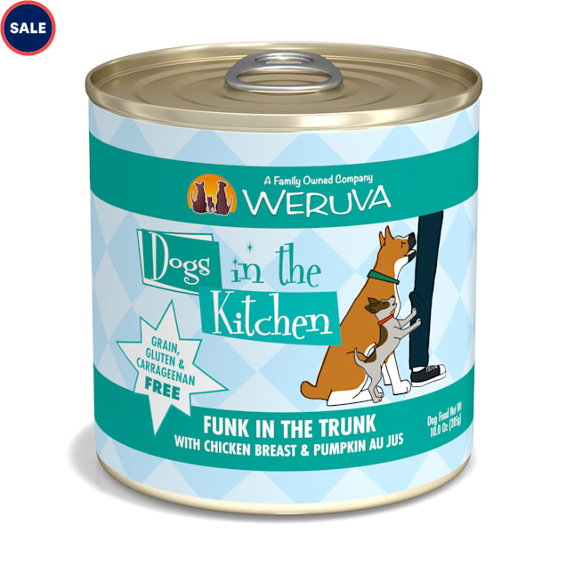 Dogs in the Kitchen Funk in the Trunk with Chicken Breast & Pumpkin Au Jus Wet Dog Food, 10 oz., Case of 12 - Carousel image #1