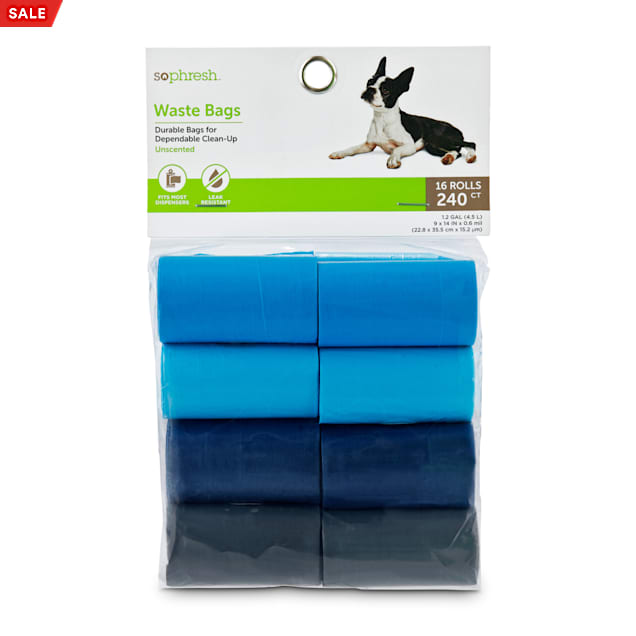 So Phresh Blue and Multicolored Solid Dog Waste Bags, Count of 240 - Carousel image #1