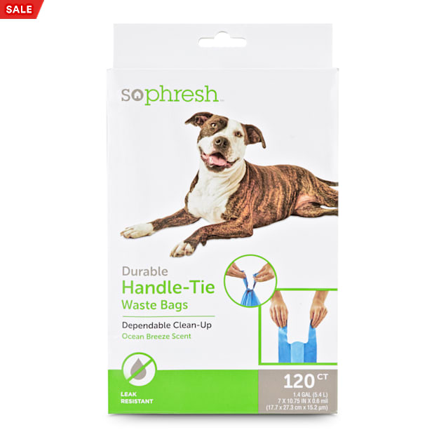 So Phresh Pick It Up Handle-Tie Scented Dog Waste Bags, 120 count - Carousel image #1