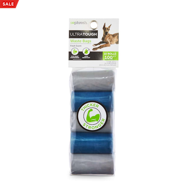 So Phresh Fresh Scented Ultra-Tough Waste Bag Refill Rolls for Dogs, Count of 100 - Carousel image #1