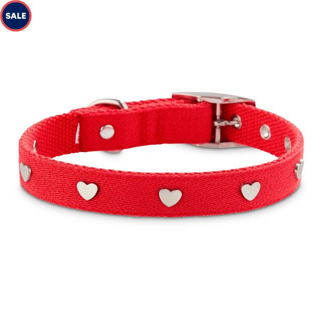 Bond & Co. Heart to Heart Stud Dog Collar, Small - Carousel image #1