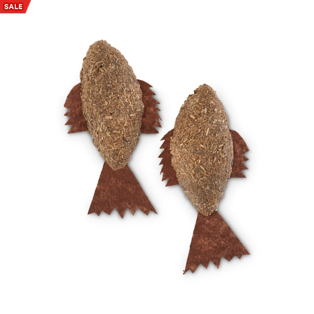 Leaps & Bounds Playful by Nature Pounce & Play Catnip Fish Cat Toys, Pack of 2 - Carousel image #1