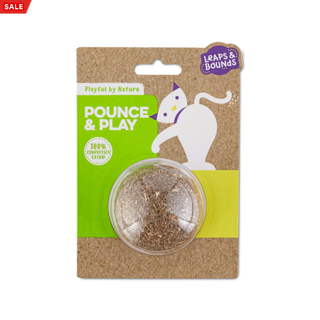 Leaps & Bounds Playful by Nature Pounce & Play Catnip Cat Ball Toy - Carousel image #1