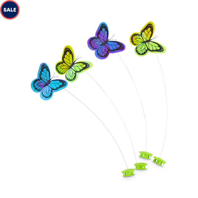 Leaps & Bounds Replacement Butterflies for Winged Chase Butterfly Cat Toys, Pack of 4 - Carousel image #1