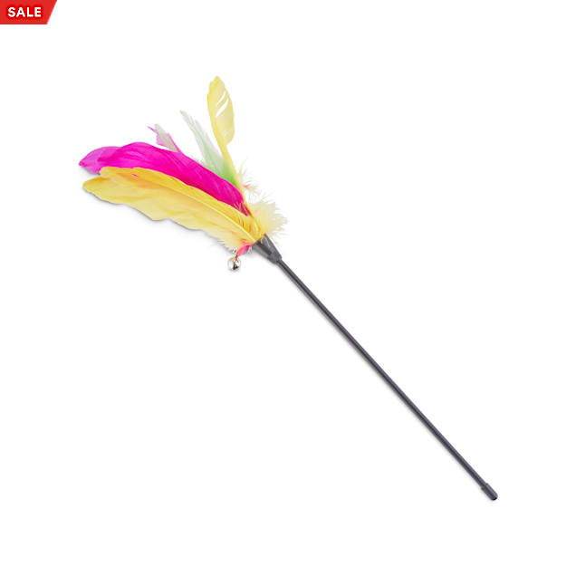 Leaps & Bounds Thrill & Chase Feathered Wand Cat Toy - Carousel image #1