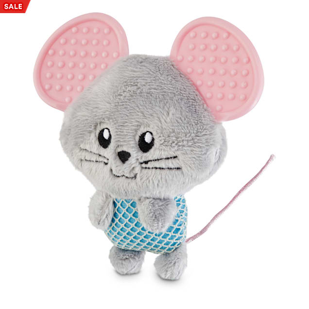 Leaps & Bounds Little Paws Teething Mouse Kitten Toy with Catnip - Carousel image #1