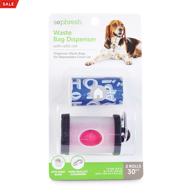So Phresh Clear Dog Waste Bag Dispenser with Refill Rolls - Carousel image #1