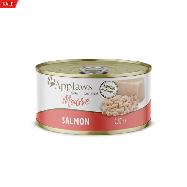 Applaws Natural Salmon Mousse Wet Cat Food, 2.47 oz., Case of 24 - Carousel image #1