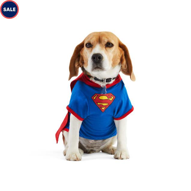 DC Comics Justice League Superman Pet T-Shirt With Removable Cape, XX-Small - Carousel image #1