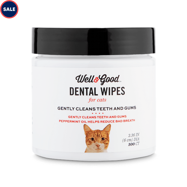 Well & Good Cat Dental Wipes, Pack of 100 - Carousel image #1