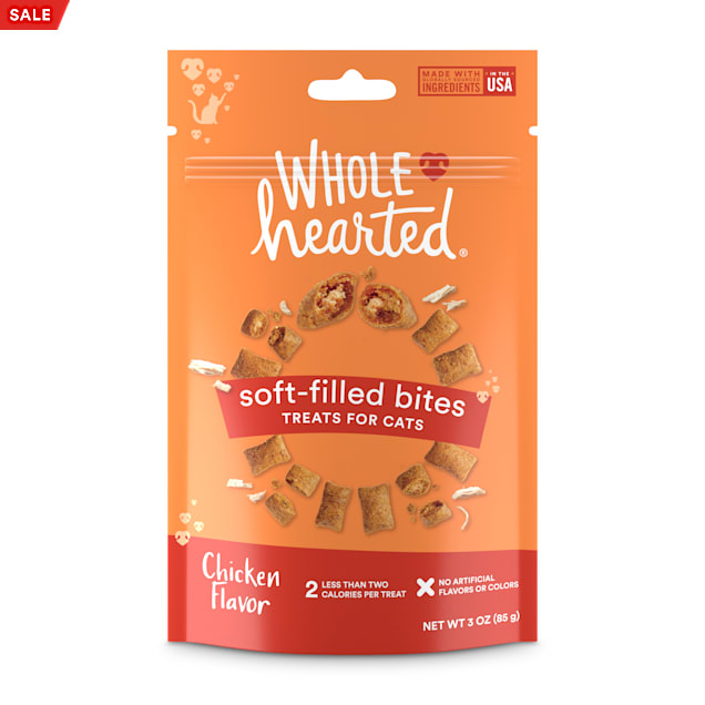 WholeHearted Soft Center Crunchy Chicken Flavor Treats for Cats, 3 oz. - Carousel image #1