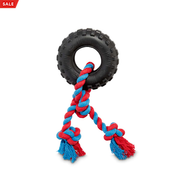Leaps & Bounds Toss & Tug Tire Rope Dog Toy, X-Small - Carousel image #1