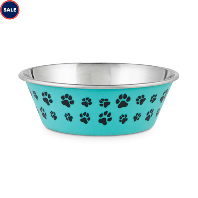 Harmony Aqua Paws Skid-Resistant Stainless Steel Dog Bowl, 2 Cups - Carousel image #1