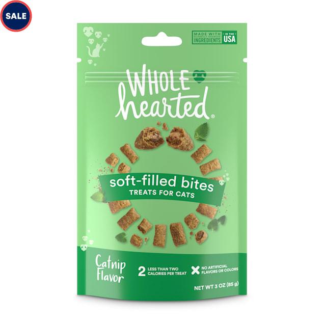 WholeHearted Soft Center Crunchy Catnip Flavor Cat Treats, 3 oz. - Carousel image #1