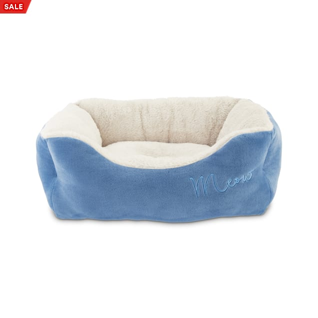 """Harmony Meow Box Blue Cat Bed, 18"""" L x 15"""" W - Carousel image #1"""