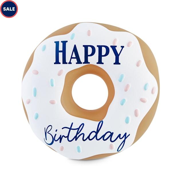 Bond & Co. Birthday Donut Vinyl Dog Toy, Small - Carousel image #1