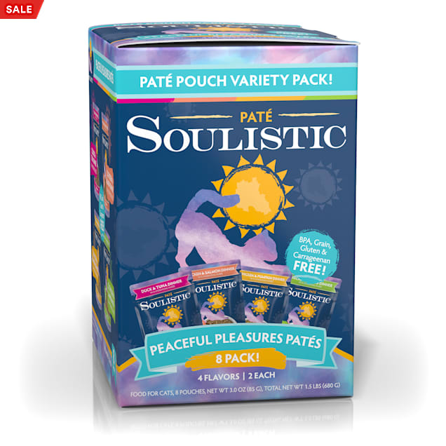 Soulistic Pate Peaceful Pleasures Variety Pack Wet Cat Food, 3 oz., Count of 8 - Carousel image #1