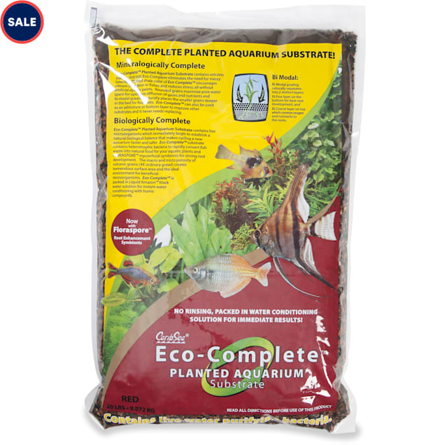 CaribSea Eco-Complete Red Coarse-Grade Plant Substrate, 20 lbs. - Carousel image #1
