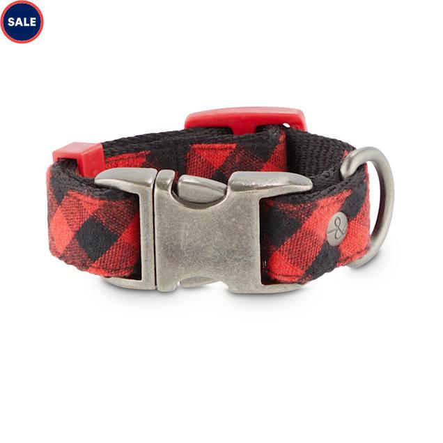 Bond & Co. Buffalo Check Dog Collar, XX-Small - Carousel image #1