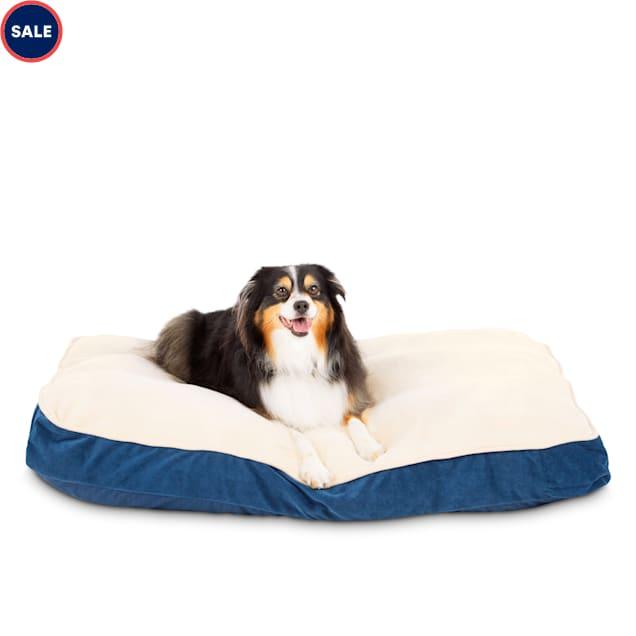 "Animaze Navy Lounger Dog Bed, 40"" L X 30"" W X 4"" H - Carousel image #1"