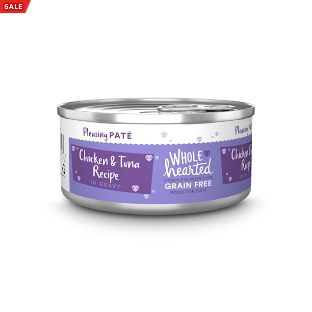 WholeHearted All Life Stages Grain-Free Chicken & Tuna Recipe Pate Wet Cat Food, 5.5 oz., Case of 12 - Carousel image #1