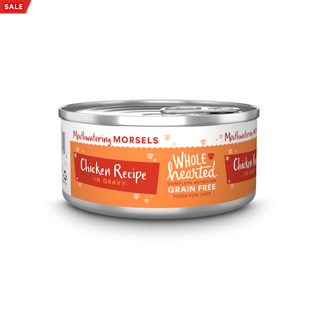 WholeHearted All Life Stages Grain-Free Chicken Recipe Morsels in Gravy Wet Cat Food, 5.5 oz., Case of 12 - Carousel image #1