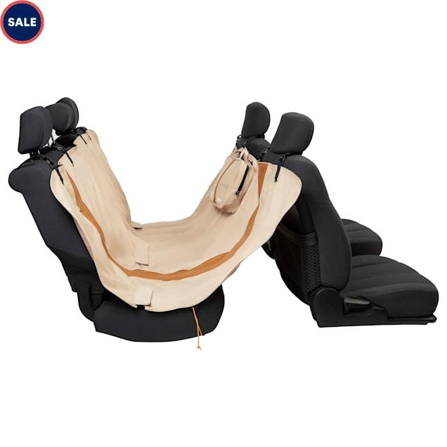 "Kurgo Extended Hampton Sand/Tan Car Seat Hammock for Dogs, 0.25"" L X 63"" W X 56"" H - Carousel image #1"