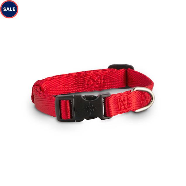 Good2Go Adjustable Red Nylon Dog Collar, Small - Carousel image #1