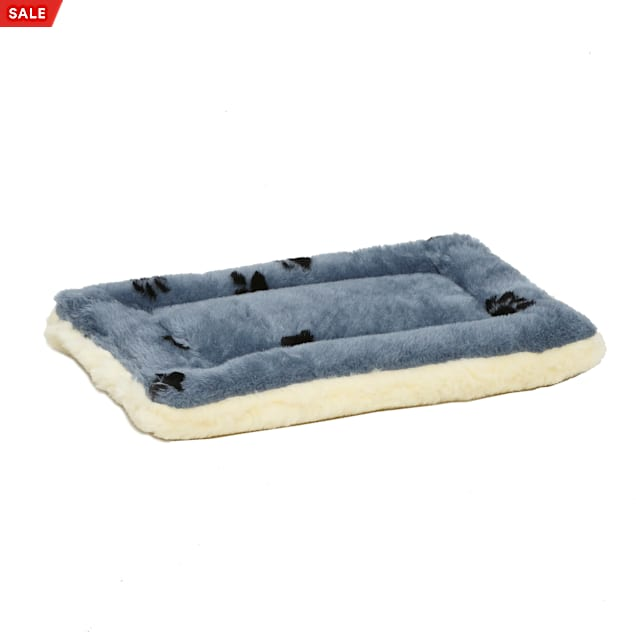 """Midwest Quiet Time Reversible Paw Print Bed for Dogs, 17.25"""" L X 11.25"""" W - Carousel image #1"""