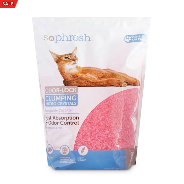 So Phresh Scoopable Odor-Lock Clumping Micro Crystal Cat Litter in Pink Silica, 8 lbs. - Carousel image #1