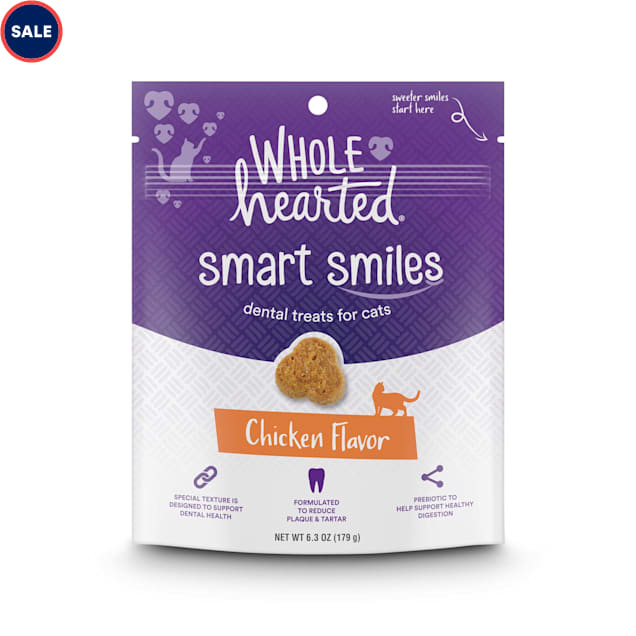 WholeHearted Smart Smiles Chicken Flavor Cat Dental Treats, 6.3 oz. - Carousel image #1