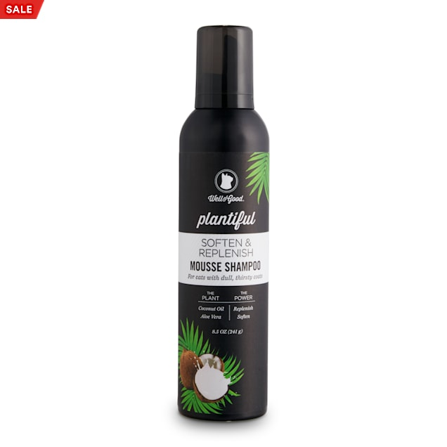 Well & Good Plantiful Soften & Replenish Coconut Cat Mousse Shampoo, 8.5 fl. oz. - Carousel image #1