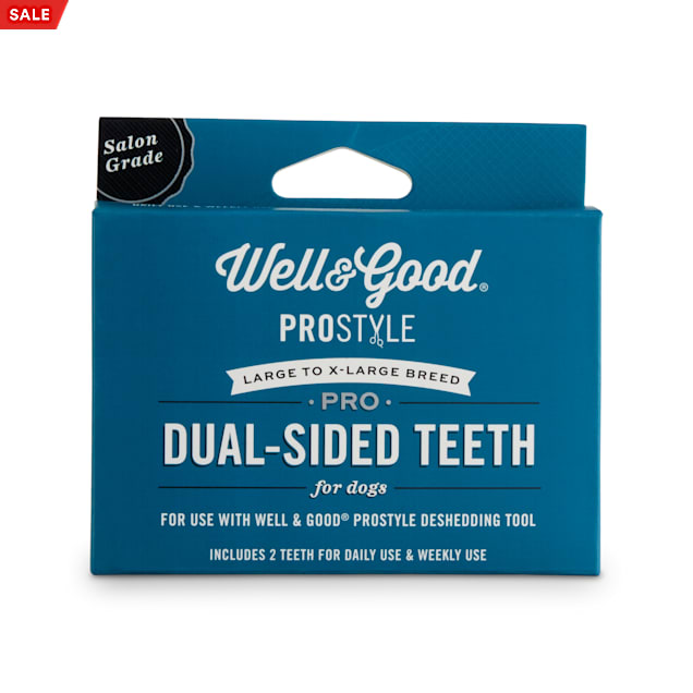 Well & Good ProStyle Dual-Sided Deshedding Replacement Teeth for Dogs, Large/X-Large - Carousel image #1