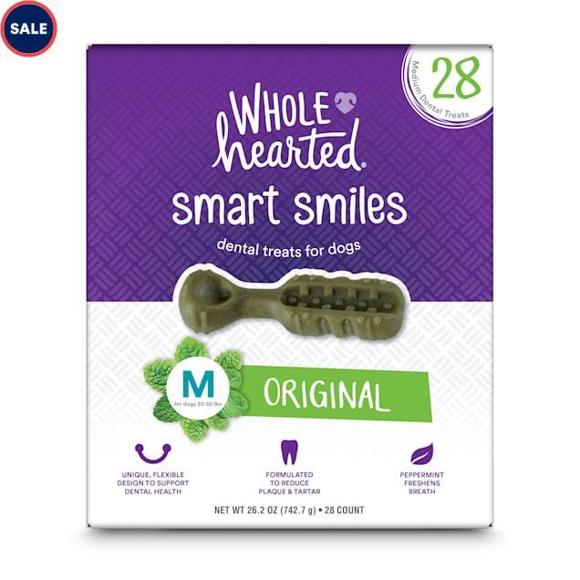 Wholehearted Smart Smiles Original Flavor Medium Dog Dental Treats, 26.2 oz., Count of 28 - Carousel image #1