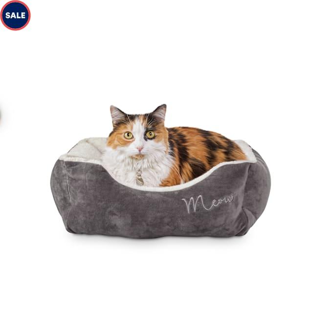 "Harmony Grey Rectangular Cat Bed, 18"" L X 15"" W - Carousel image #1"