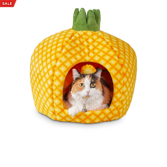 """You & Me Pineapple Cat Bed, 18"""" D - Carousel image #1"""