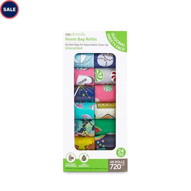 So Phresh Dog Waste Bag Seasonal Variety Pack, Count of 720 - Carousel image #1