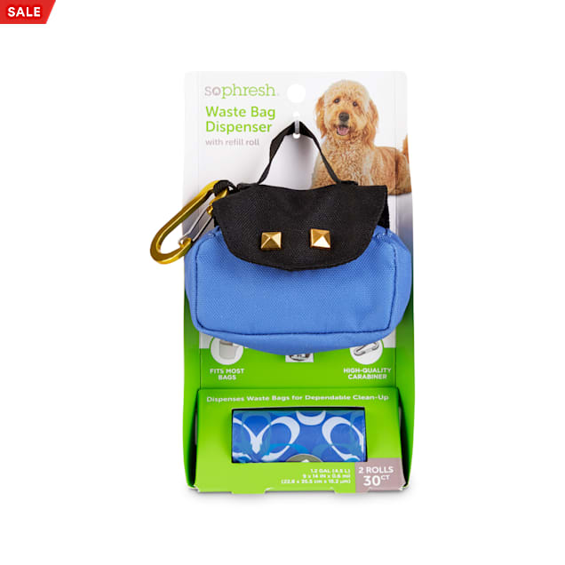So Phresh Blue Purse Dog Waste Bag Dispenser & Refill Rolls - Carousel image #1