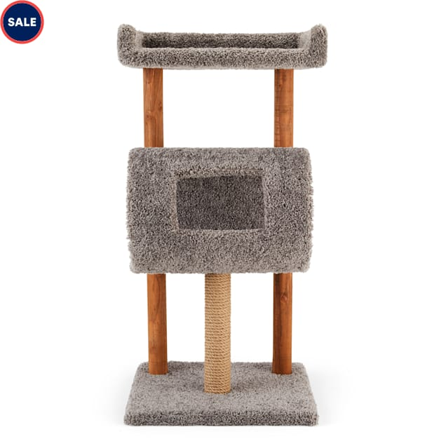 """You & Me Devour Tower Multi-Level Cat Tree with Diner, 20"""" L X 20"""" W X 40"""" H - Carousel image #1"""