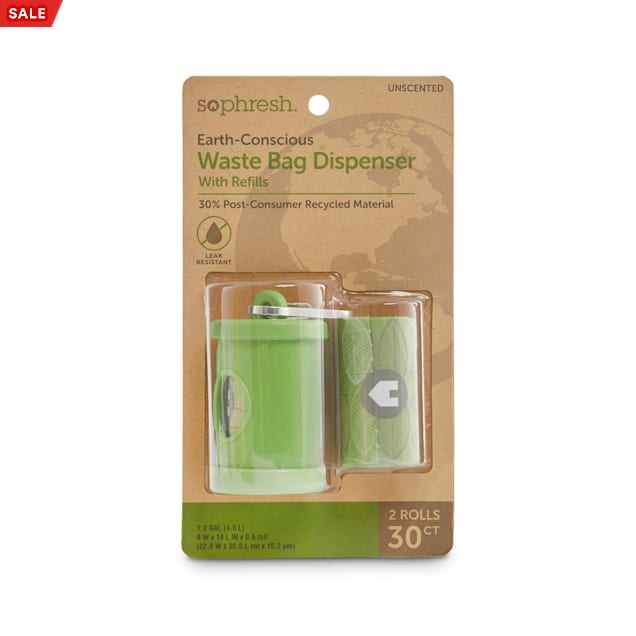 So Phresh Earth-Conscious Dog Waste Bag Dispenser with Refill Roll, Count of 30 - Carousel image #1