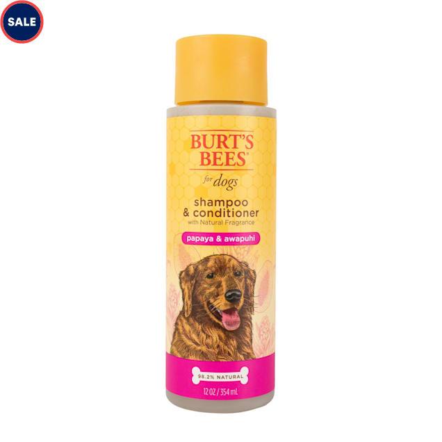 Burt's Bees Natural Pet Care Shampoo & Conditioner Papaya & Awapuhi Scent, 12 fl. oz. - Carousel image #1