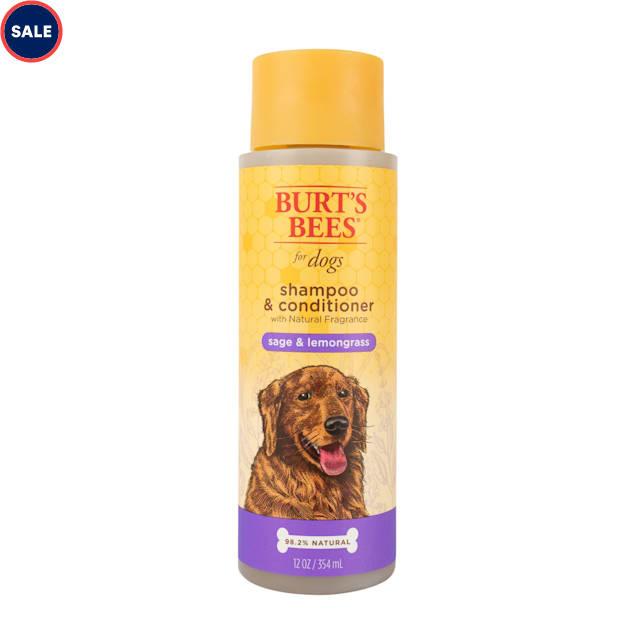 Burt's Bees Natural Pet Care Shampoo & Conditioner Sage & Lemongrass Scent, 12 fl. oz. - Carousel image #1