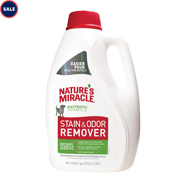 Nature's Miracle Stain & Odor Remover Scent Tough for Dogs, 128 fl. oz. - Carousel image #1
